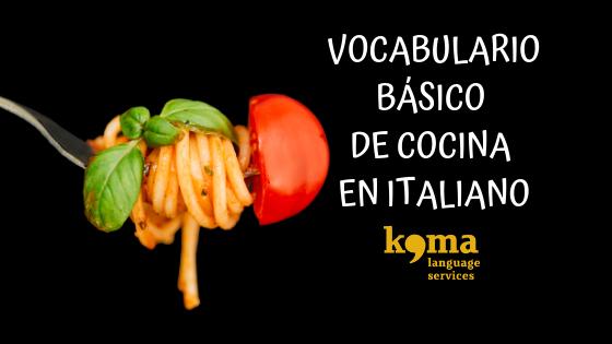vocabulario de cocina italiana