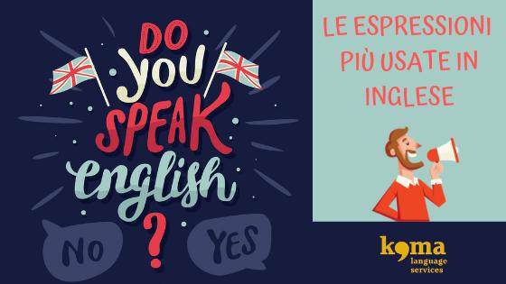 espressioni in inglese