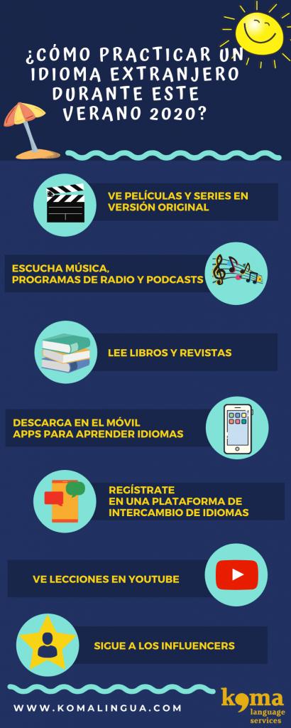 7 consejos para practicar un idioma extranjero verano 2020