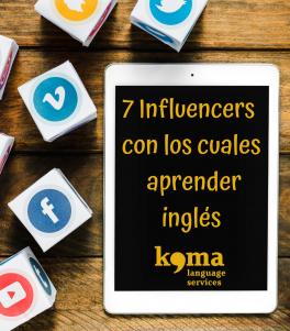 Aprender inglés con los influencers en internet