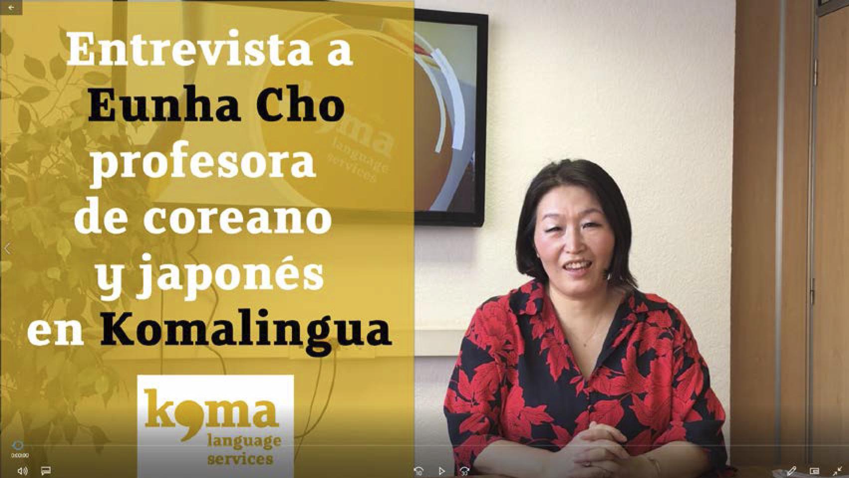 entrevista a Eunha, profesora de coreano y japonés en Komalingua