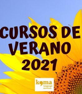 cursos de verano 2021 en Komalingua